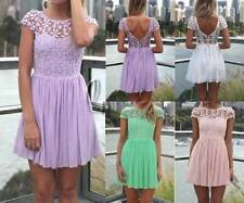 Chiffon Short Lace Dresses for Women