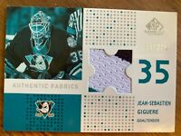 J.S. Giguere Anaheim Ducks SP Game Used 02-03 Three Color Jersey Card 155/225