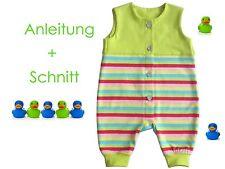 Schnitt+ Nähanleitung Baby-Strampler als Ebook