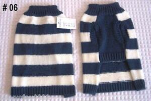 Dog Coat Jumper Sweater, #06, Size XS, S, M, L, XL, Suit Small to Medium Dog