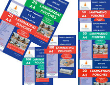 More details for a4 or a3 150 / 250 micron laminating pouches sheets in 20 / 50 / 100 packs