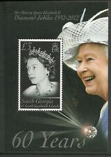 SOUTH GEORGIA SOUTH SANDWICH ISLANDS -2012-DIAMOND JUBILEE MINISHEET-MNH