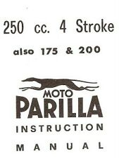 Parilla 175/200/250 literature 107 pg collection COPIES