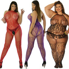 True Size UK 6-26 Body Stocking Lingerie Underwear Tights Curvy Sexy Nightie Lot