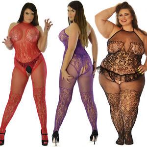 True Size UK 6-26 Body Stocking Lingerie Underwear Tights Curvy Sexy Nightie Lot