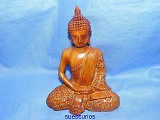 Gleneagles Studio Oak Wood Effect Amulet Meditation 3052 Religious Figure