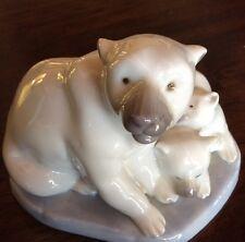 Lladro Polar Bear And Cubs