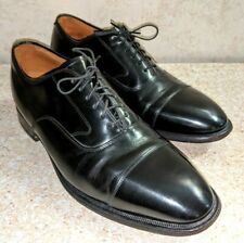 JOHNSTON MURPHY OPTIMA MELTON Cap Toe Oxford Black Leather Size 10.5 D MSRP $269