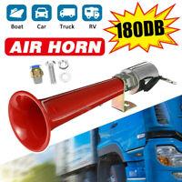180DB 12V 24V Super Laut Drucklufthorn Hupe Lufthorn Horn Kit LKW LKW Boot Zug