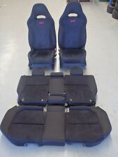 Subaru Forester SG9 STi 2004 Black Front Rear Seat Set #2