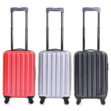 Ryanair Easyjet Hard Cabin 4 Wheels Spinner Trolley Luggage Suitcase Bag Case