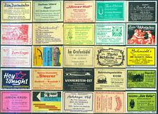 25 alte Gasthaus-Streichholzetiketten aus Deutschland #887