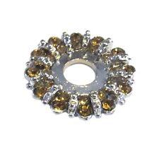 Mooduli Ring Strass Scheibe  rund Wechselring Platte  Metall  M-600202