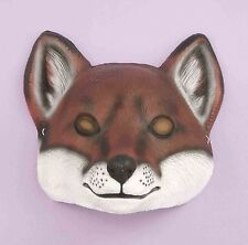Fox Mask Plastic Front Face Mask Child to Adult Size Animal Mask