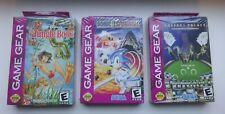 Sega. Sega Game Gear. Gamegear. Lot de 3 jeux neuf en boites . Version Usa. New