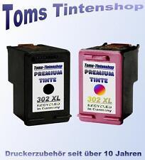 2 Druckerpatronen 302 XL Premium refill schwarz und bunt für HP Deskjet 3630