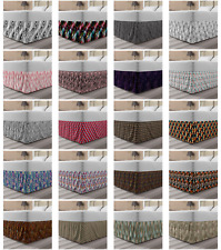 Ambesonne Abstarct Surreal Bedskirt Elastic Wrap Around Skirt Gathered Design