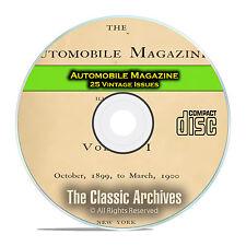 Automobile Magazine, 1899-1902, 25 Issues on PDF, Car Auto History, CD C98
