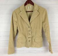 St. John's Bay Women's Size Small Solid Beige Flap Corduroy Blazer Jacket in LNC