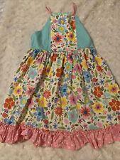 matilda jane size 8 floral tank dress