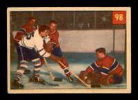 1954 Parkhurst #98 Jacques Plante/Ted Sloan IA VGEX X1498339