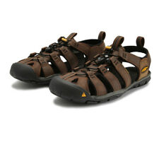 Keen Mens Clearwater CNX Leather Walking Shoes Sandals - Brown Sports Outdoors