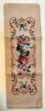 "Tapestry Wool Floral Needlepoint Table Runner 14"" X 40"""