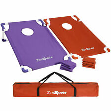 Collapsible Pvc Framed Cornhole Game Set with 8 Bean Bags & Travel Carrying Case