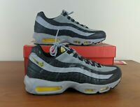Nike Air Max 95 SE Sneakers Reflective Off Noir Amarillo Grey BQ6523 001 Size 12