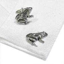Pewter Frog CUFFLINKS Pond Toad Lover Club Party Christmas Present GIFT Box