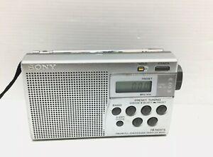 SONY ICF-M260 FM AM receptor receiver.Sintonizador de radio digital portátil.