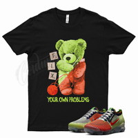 Black FIX T Shirt for Nike Vapormax Flyknit 3 Exeter Edition Orange Volt