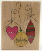 Studio G Kolette Hall Design Christmas Tree Ornaments Mounted Stamp Winter Art