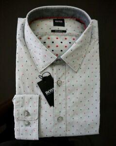 Hugo Boss Lukas Mini Dot Print Long-Sleeve Woven Shirt NWT $128 sz XL