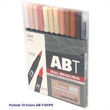TOMBOW ABT Dual Brush Pens Blendable 2 tips Portrait Colors 12pcs-Set AB-T12CPO