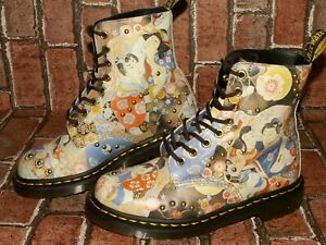 Dr.Martens 1460 PASCAL EASTERN ART oriental leather boots uk 5 eu 38 us 7 Doc#78