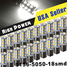 20 X White 1156 BA15S 18SMD 5050 LED Light bulbs Turn Signal Backup Reverse 1141
