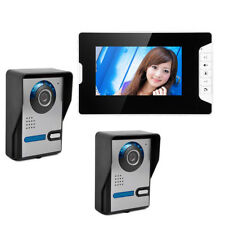 """7"""" Door Monitor 2 Camera Doorbell Intercom Control TFT LCD Door Phone Video Kit"""