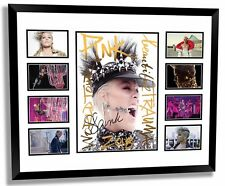 PINK 2018 BEAUTIFUL TRAUMA WORLD TOUR SIGNED LIMITED EDITION FRAMED MEMORABILIA
