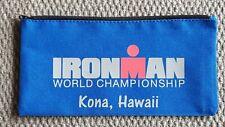 Ironman World Championship Triathlon Kona, Hawaii Blue Canvas Zipper Bag