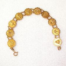 Estate Solid 18K Yellow Gold Religious Saints Bracelet Fine Jewelry