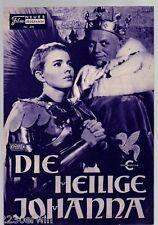 DIE HEILIGE JOHANNA / NFP 496 Wien / Richard Widmark, Jean Seberg, Richard Todd