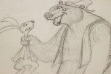 Walt Disney Studio T HEE Song of the South Pencil Sketch Brer Bear Brer Rabbit
