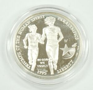 1995-P Proof Capsule Triumph of The Human Spirit Paralympics US $1Silver Dollar