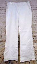 Tommy Hilfiger White Trouser Pants Womens Size 4 Comfort Waist Band 100% Cotton