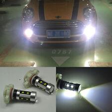 2x Bright White LED FOG H16 LIGHT RUNNING BULB For Mini cooper F55 F56 2014-2016