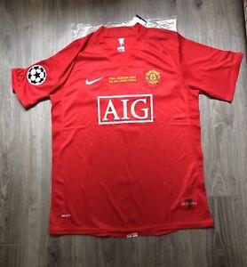 RONALDO 7 Manchester United shirt champions league final Moscow 2008 jersey UK M