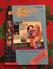 Baby-Sitters Club #2 Claudia and the Phantom Phone Calls Mystery Adventures PB