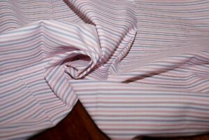 BULK BUY! 4.5m x 1.4m 'CANDY STRIPE' Cotton Shirting Fabric, Light / Mid Weight