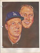 1964 Union 76 Nicholas Volpe Print Johnny Podres Portrait - Los Angeles Dodgers